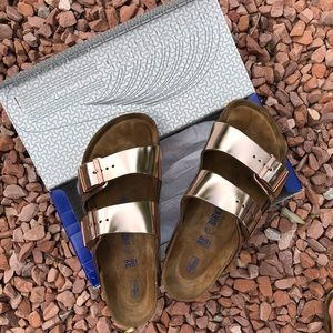 Arizona BS Metallic Copper Birenstock